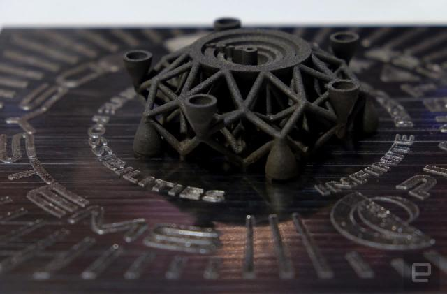 This is the first object 3D-printed from alien metal