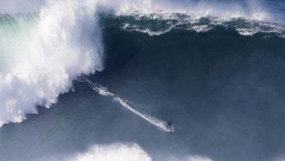 Surf - Nazaré - Surf: Justine Dupont et Kai Lenny ont fait le show à Nazaré