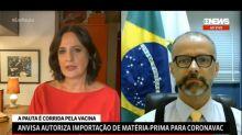 Presidente da Anvisa briga ao vivo na GloboNews; Bolsonaro compartilha cena no Twitter