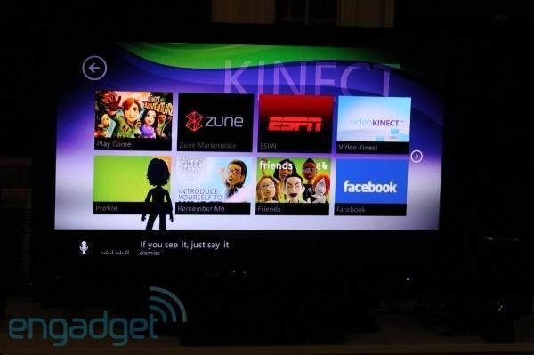Kinect-optimized Xbox 360 Dashboard preview