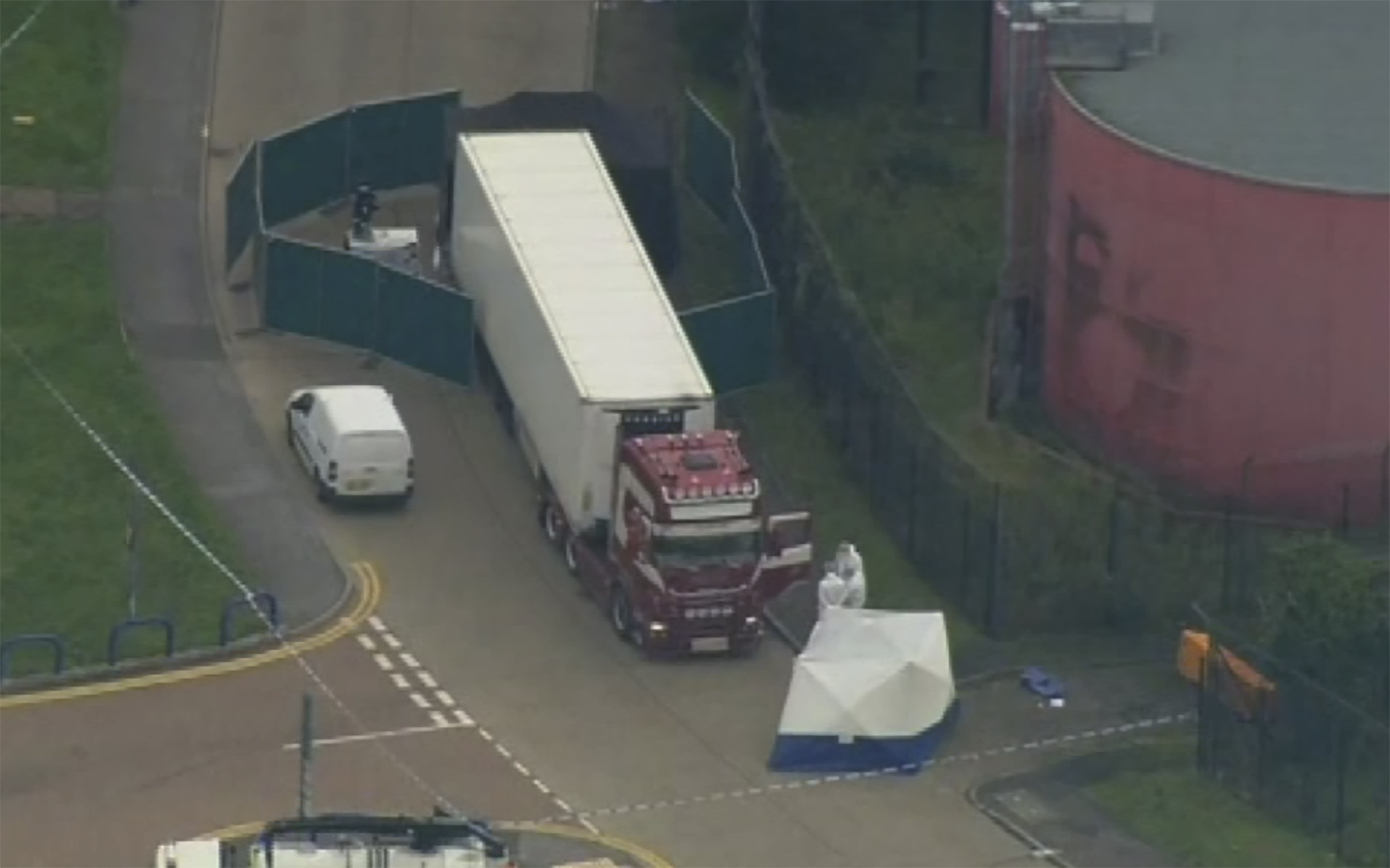 British police find 39 bodies in truck container