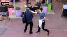 Le député France Insoumise Eric Coquerel se fait entarter à Colombes (vidéo)