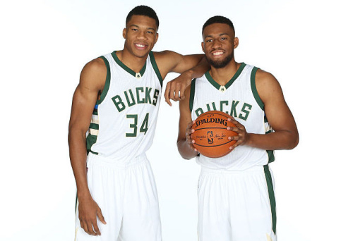 Giannis Antetokounmpo (left) and Jabari Parker don't turn 22 years old until after the season starts. (Getty Images)