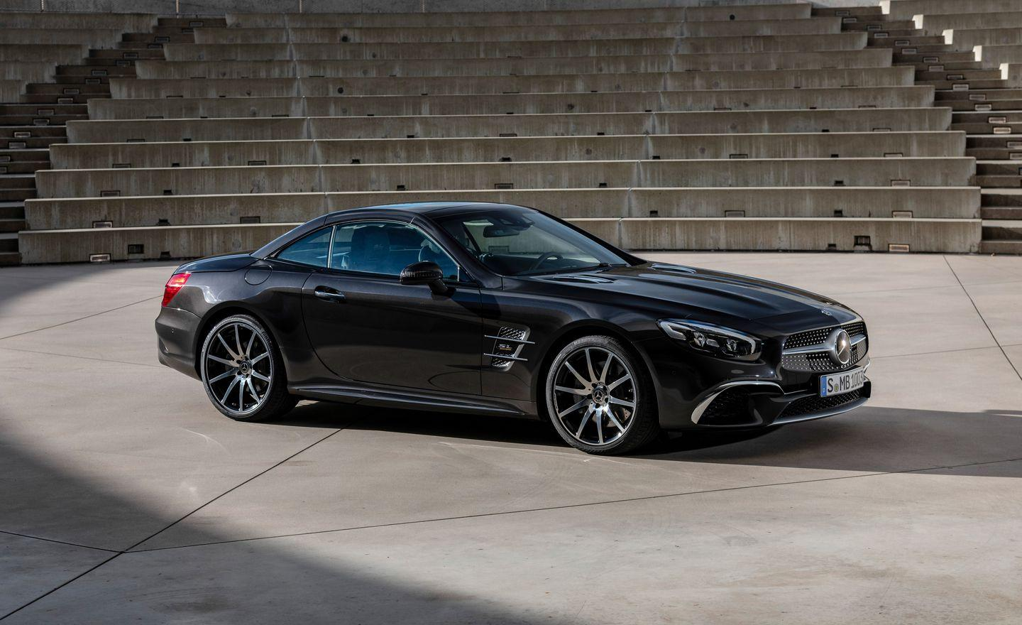 <p>Ignore the Euro-spec SL500 moniker in these photos. Mercedes will import a limited number of SL450 and SL550 Grand Editions starting in 2020 at several grand more apiece because they can-for what will be an eight-year-old car.</p>