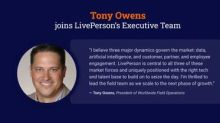LivePerson appoints Tony Owens to scale field strategy and operations for next stage of growth