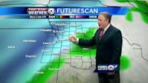 Rain, colder weather setting up for wintry blast