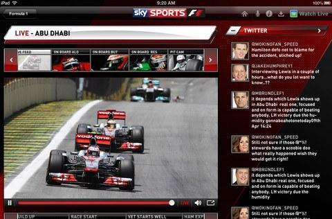 Sky Sports for iPad 2.0 launches with live TV streaming, F1 Race Control companion