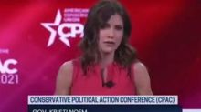 Kristi Noem claims successful response to Covid in CPAC speech joining GOP 2024 hopefuls