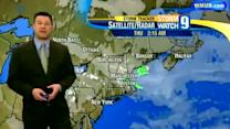 Cloudy skies clear up overnight