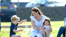 Candid photos show the Duchess of Cambridge off-duty with Prince George and Princess Charlotte