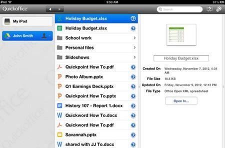 Google Apps for Business users get free Quickoffice for iPad