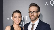 Blake Lively rocks a plunging leather neckline for date night with Ryan Reynolds