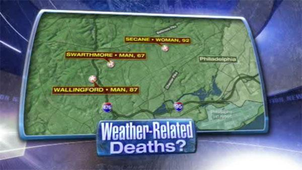 3 possible weather related deaths in Delaware County