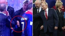 Bizarre moment FIFA official pockets World Cup medal goes viral