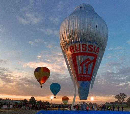 Russian breaks round-the-world hot air balloon record: crew