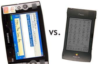 Apple Newton takes down the Samsung Q1 UMPC?
