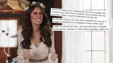 This could be the worst bridezilla story you've ever heard