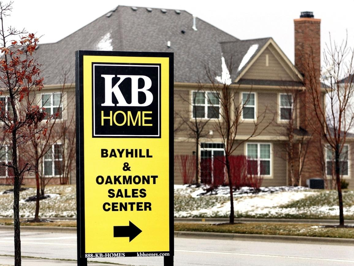 A KB Home sign stands at one of their residential developments in Vernon Hills, Illinois. The Chicago suburb made Money magazine's list of Best Places To Live in 2020, based on factors such as employment, weather, the housing market and more.