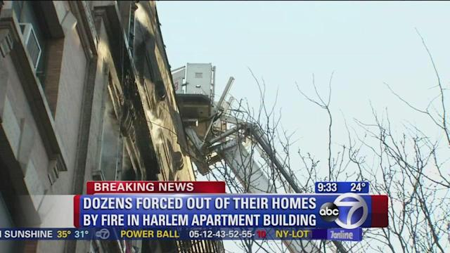 Dozens forced out of homes in Harlem fire