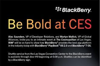 BlackBerry PlayBook OS 2.0 to be shown at official CES 2012 event, BB 10 OS coming at MWC