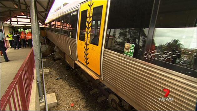 Slippery tracks caused crash: report