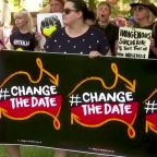 Indigenous women protest against Australia Day