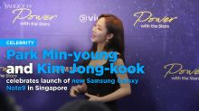 Park Min-young and Kim Jong-kook celebrates launch of new Samsung Galaxy Note9 in Singapore