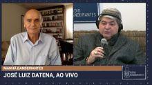 """Datena deixa entrevista com Dráuzio Varella após morte da sogra: """"Momento difícil"""""""