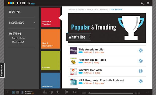 Stitcher keeps the news flowing for desktop users with new web-based app