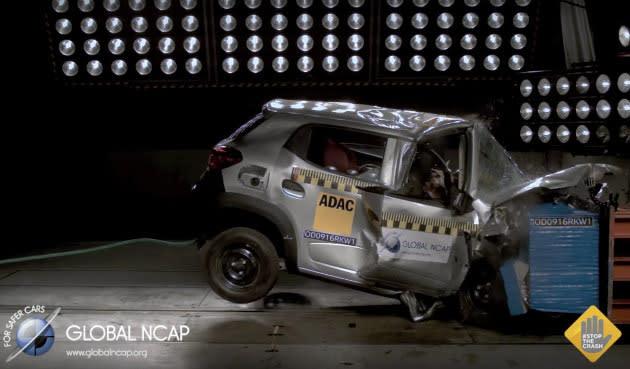 Videos: Indische Auto-Modelle versagen im Crash Test (Autsch)