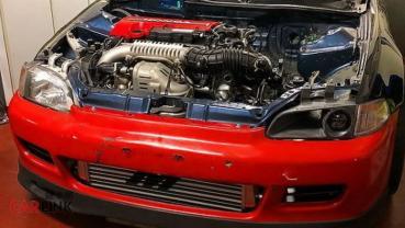Type R只能「看車尾燈」!Honda Civic EG「K20C1+全改底盤」操控機器版
