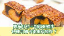 月餅卡路里大比拼 食一個雙黃蓮蓉月餅要跑兩個鐘步!