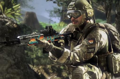 Soap is ridin' dirty in Call of Duty: Ghosts with cannabis personalization pack