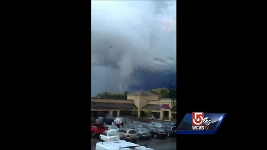 Witness report funnel cloud in Stoughton