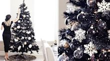 Black Christmas trees have landed, and they look incredibly chic
