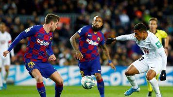Empate sin goles al descanso del debut de Quique Setién
