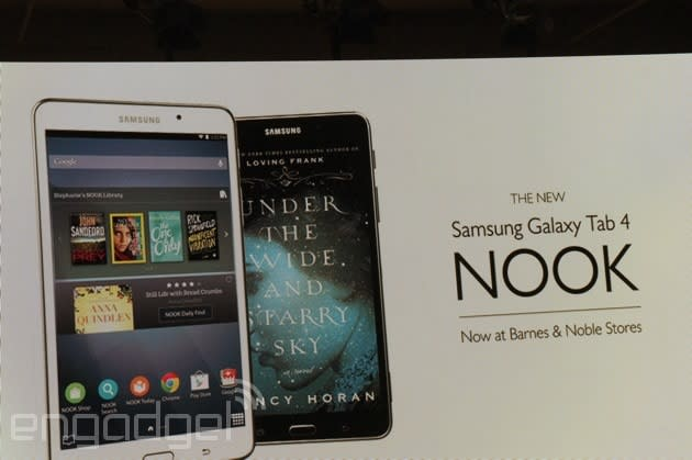 Barnes & Noble launches the $179 Galaxy Tab 4 Nook