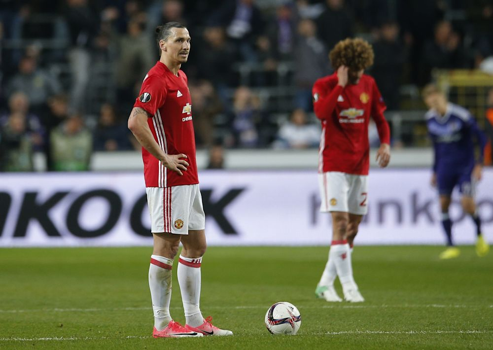 It was a frustrating night for Zlatan and United