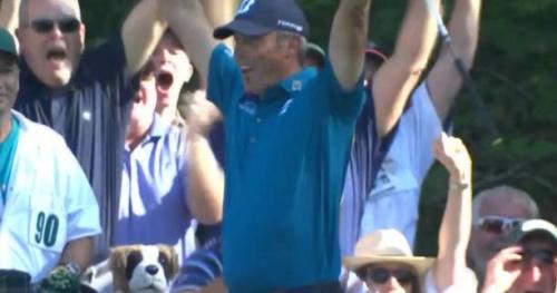 Golf - Masters - Le trou en un de Matt Kuchar au 16 d'Augusta