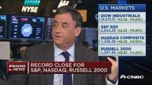 Major market averages notch record gains as shutdown loom...