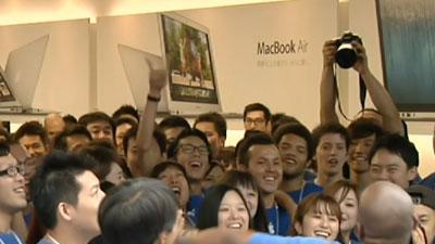 Raw Video: Apple's new phone goes on sale