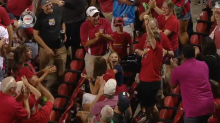 Resourceful Cardinals fan catches foul ball with her purse