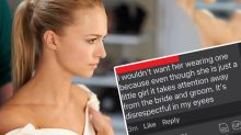 Bride's flower girl demand for wedding sparks heated debate