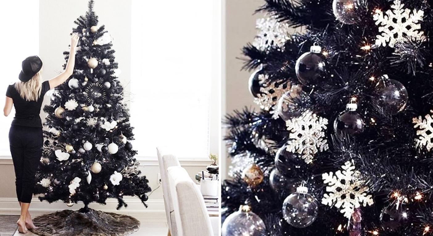 Black Christmas trees have landed and they look incredibly chic
