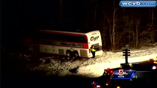 RAW Video: Sky 5 over Interstate 95 bus crash