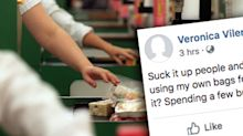 'Don't bag the staff': Shoppers hit back at complaints over Woolies plastic bag ban
