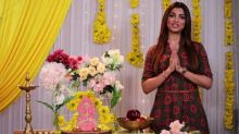 Akanksha Puri finds a different way of celebrating Ganpati