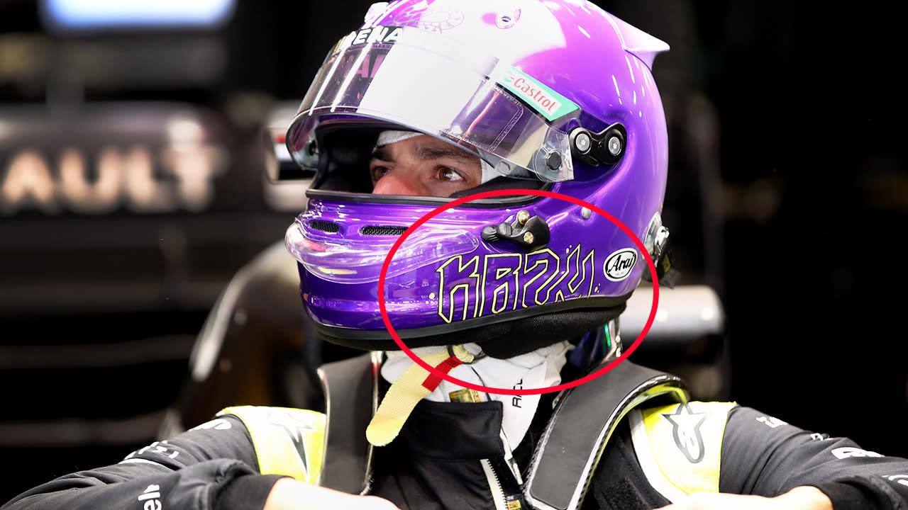 Beautiful message in Daniel Ricciardo's new helmet design