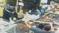 Raw: Man Thwarts Would-be Robbery With Machete