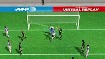 Manucho's 2nd goal against Real Madrid in 3D